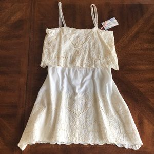 Chelsea and Violet ivory lace cotton dress